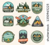 set of summer camp patches.... | Shutterstock .eps vector #1350965225