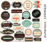 vector set of vintage labels... | Shutterstock .eps vector #135096626