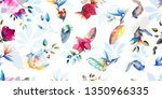wide vintage seamless... | Shutterstock .eps vector #1350966335