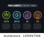4 elements of nature symbols... | Shutterstock .eps vector #1350967508