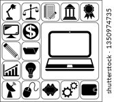 set of 17 business icons ... | Shutterstock .eps vector #1350974735