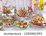traditional polish easter... | Shutterstock . vector #1350981992