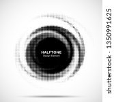 halftone circle dotted frame... | Shutterstock .eps vector #1350991625