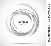 halftone circle dotted frame... | Shutterstock .eps vector #1350991628
