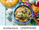 arabic cuisine. events ramadan. ... | Shutterstock . vector #1350993458
