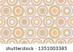 abstract geometry in retro... | Shutterstock .eps vector #1351003385
