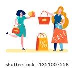 happy customer paying money...   Shutterstock .eps vector #1351007558