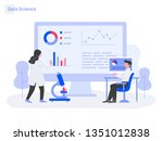 data science illustration... | Shutterstock .eps vector #1351012838