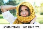 cute modern fashion girl... | Shutterstock . vector #1351025795