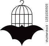 this is a vector bat logo with... | Shutterstock .eps vector #1351030505