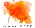 abstract orange watercolor... | Shutterstock . vector #1351031558