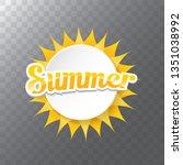 vector special offer summer... | Shutterstock .eps vector #1351038992