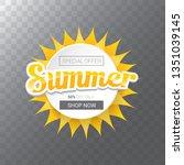 vector special offer summer... | Shutterstock .eps vector #1351039145