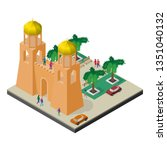 cityscape in isometric view.... | Shutterstock .eps vector #1351040132