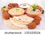 Assorted Of Oriental Food  Mezze