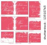 pink flower reception card set... | Shutterstock .eps vector #13510765