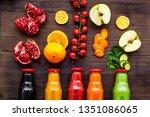 healthy organic juice in... | Shutterstock . vector #1351086065