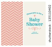 baby shower invitation card... | Shutterstock .eps vector #135110402