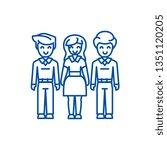 woman choice  friends  man... | Shutterstock .eps vector #1351120205