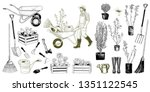 big set of images of various... | Shutterstock .eps vector #1351122545