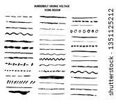 vector line grunge sketch... | Shutterstock .eps vector #1351125212