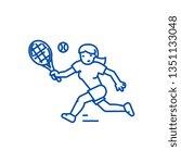 tennis championship woman  line ... | Shutterstock .eps vector #1351133048
