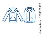 sweatshirt hoodie line icon...   Shutterstock .eps vector #1351135472