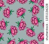 floral seamless pattern.summer... | Shutterstock . vector #1351136228