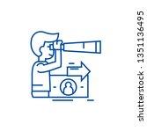 strategic vision  planning  man ... | Shutterstock .eps vector #1351136495