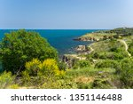beautiful mediterranean sea... | Shutterstock . vector #1351146488