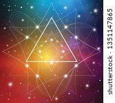 fractal white outline... | Shutterstock .eps vector #1351147865