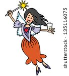 tooth fairy | Shutterstock .eps vector #135116075