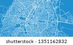 urban vector city map of konya  ... | Shutterstock .eps vector #1351162832