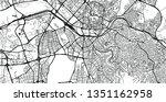 urban vector city map of ankara ... | Shutterstock .eps vector #1351162958
