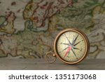 Antique Vintage Brass Compass...