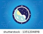 the circadian rhythms are... | Shutterstock .eps vector #1351204898