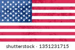 old dirty american flag.grunge... | Shutterstock .eps vector #1351231715
