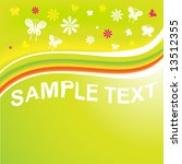 abstract summer background for... | Shutterstock .eps vector #13512355