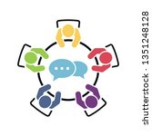 business meeting and teamwork... | Shutterstock .eps vector #1351248128