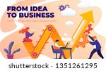 flat banner from idea to... | Shutterstock .eps vector #1351261295