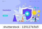 personal vaccination  family...   Shutterstock .eps vector #1351276565