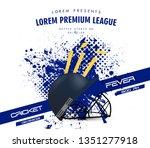 illustration of  helmet on...   Shutterstock .eps vector #1351277918