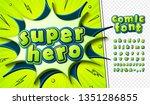 3d letters in pop art style....   Shutterstock .eps vector #1351286855