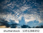 twilight colorful sky with... | Shutterstock . vector #1351288352