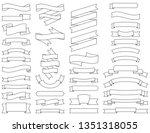 ribbon collection. set of...   Shutterstock .eps vector #1351318055