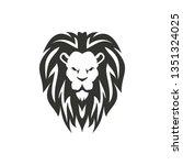 lion symbol isolated on white... | Shutterstock .eps vector #1351324025