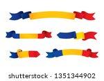 romania flag ribbon isolated on ...   Shutterstock .eps vector #1351344902