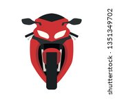 motorcycle icon front view.... | Shutterstock .eps vector #1351349702
