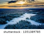 Aerial View Of A Sunrise Over A ...