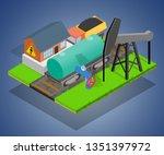 storage depot concept banner.... | Shutterstock . vector #1351397972